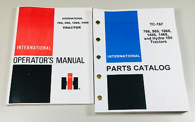 International Farmall 766 966 1066 1466 Tractor Operators Manual Parts Catalog