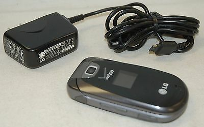 LG Revere VN150 BLACK Verizon Wireless Flip Keyboard Cell Phone VGA Camera -