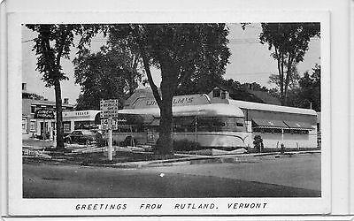 B&W LINDHOLM'S DINER & TEXACO GAS,SERVICE STATION-RUTLAND,VT