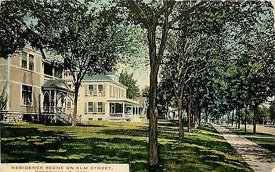 C1907 Postcard  Residence Scene On Elm Street  Coffeyville Ks Montgomery County