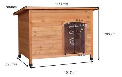 New SkiiddiiX-Large Dog Kennel, Dog House, Wooden House Timber