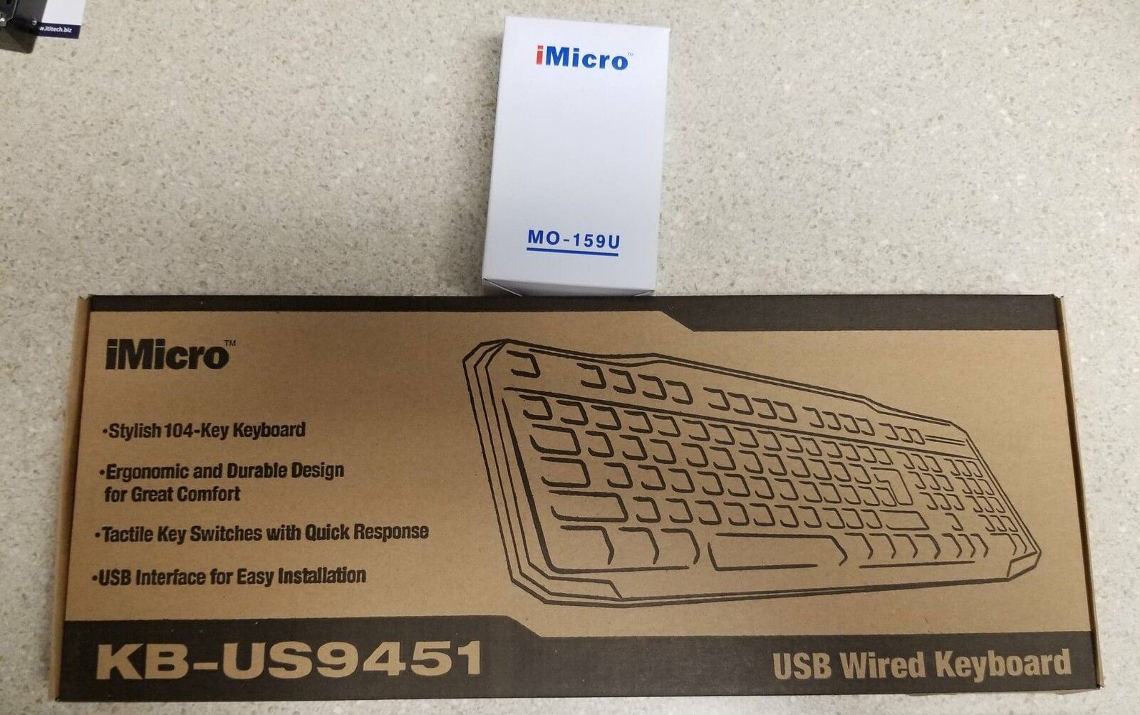 iMicro Wired Keyboard-Mouse Combo - KB-US9451
