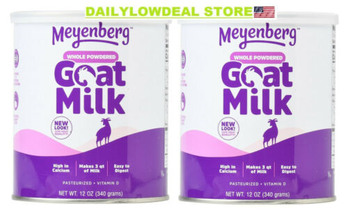 Meyenberg Whole Powdered Goat Milk 12 Ounce Gluten Free Vitamin D (PACK OF 2)