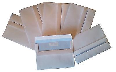 1000 Stück Briefumschläge C6 ohne Fenster 114 x 162 mm SK selbstklebend weiss
