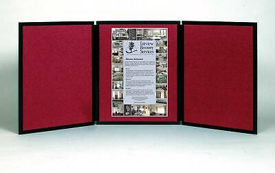Folding 3 Panel 49 X 20 Wine Tabletop Display For Use With Friction Hook Tape