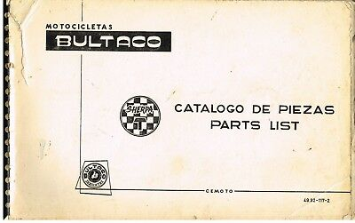 BULTACO SHERPA T (HOME & EXPORT) ORIGINAL FACTORY ILLUSTRATED PARTS CATALOGUE