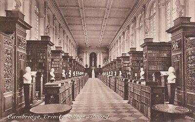 CAMBRIDGE - TRINITY COLLEGE LIBRARY (FRITH) B&W POSTCARD