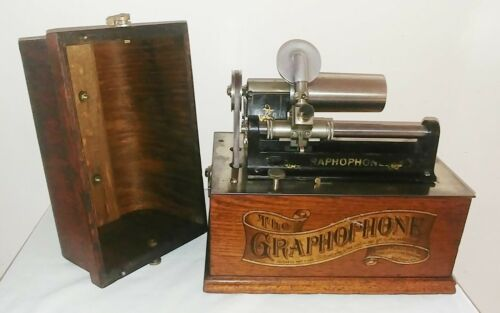 EXTREMLY RARE COLUMBIA FACTORY TRANSITION FROM A TO AT PHONOGRAPH/GRAPHOPHONE
