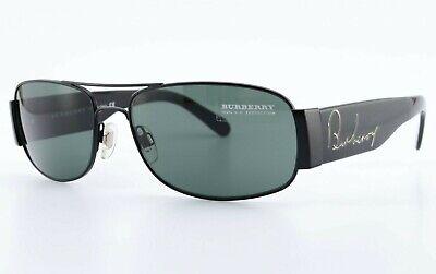 BURBERRY Sonnenbrille B 3011 1007/71 Black Sunglasses Aviator Deluxe Italy +Case