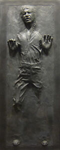 Han Solo in Carbonite Star Wars Fathead-Style Life-Size Wall Graphic-USA Seller