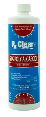 Algae Liquid - Rx Clear Algaecide 60 Plus Prevents Algae Swimming Pool Chemical - 1 Quart