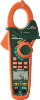 New Extech Ex623 True Rms 400a Acdc Clamp Voltage Multimeter Dual Type K Ir