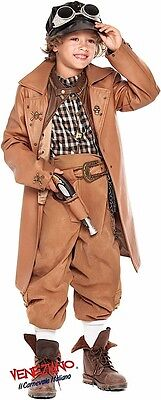 lung Jungen Viktorianischer Steampink Halloween Kostüm Kleid (Jungen Steampunk Kostüm)