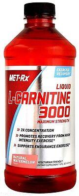 Carnitine Liquid - Met Rx Liquid L-Carnitine 3000 Natural Watermelon 16 oz Supports Fat Loss
