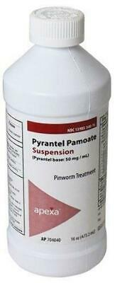 Pyrantel Pamoate  hookworms round worms Dogs Cats suspension 16oz 50mg 1 Pint