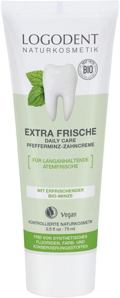 Xylit Zahncreme Logodent Daily Care Bio Pfefferminze 75ml Zahnpasta mit Xylitol