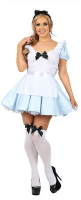 Adult ladies Fairytale Alice Costume Wonderland  Fancy Dress Costume (FR)