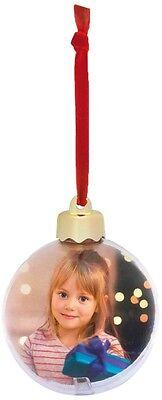 ZEP sfera apribile pallina per albero di Natale personalizzabile con foto 7,5 cm