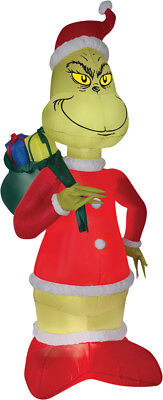 8 FT GRINCH IN SANTA SUIT Christmas Airblown Yard Inflatable