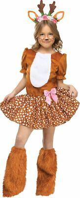 Oh Deer Reh Kinder Kostüm Rehkitz Bambi Rentier Hirsch Mädchen Verkleidung - Rehkitz Kostüm