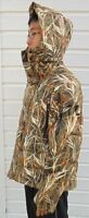 delux winter jacket, down-filled, grass camo, size S