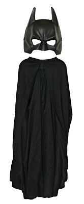 Dark Knight Batman Child Kit Black Cape & Face Mask Halloween - Halloween Face Mask Kits