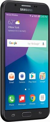 Boost Mobile - Samsung Galaxy J7 Perx 4G LTE with 16GB Memory Cell Phone - Black