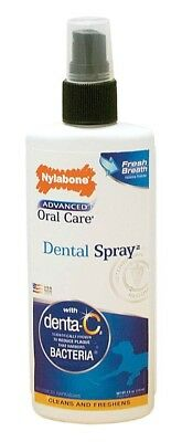 Nylabone Advanced Oral Care Dental Spray 4 ounce | Breath Freshener for Dogs ()