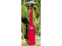 Memphis Red LPG Bottle Patio Heater & Cover - UNUSED