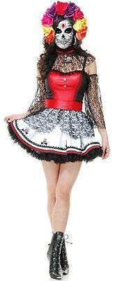 DIA DE LOS MUERTOS Dress Adult Womens Costume HALLOWEEN Elegant Day of the Dead