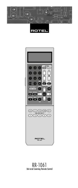 Rotel RR-1061 Remote Control Owners Manual