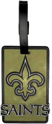 New Orleans Saints Travel Bag Tag Luggage ID Tag Team Colors NFL - New Orleans Saints Bag