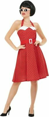 50s Rockabilly Pin Up Costume, Womens Fancy Dress, - Womens Kleine Rote Kostüme