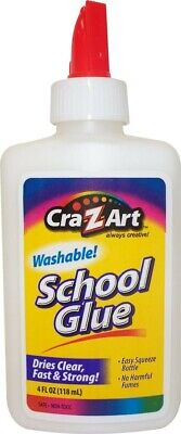 Cra-Z-Art Washable School Glue, 4 oz, BRAND NEW Fast Drying non toxic - White  4 Ounce School Glue