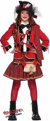Scottish Girl Costume (Italian Made 5 Pc Girls Tartan Scottish Pageant Fancy Dress Costume Outfit)