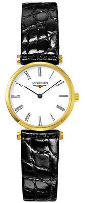 L42092112 La Grande Classic de Longines Yellow Gold PVD Ladies Watch 24mm black
