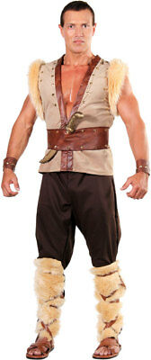 BARBARIAN VIKING THOR CAVEMAN WARRIOR MEDIEVAL ADULT MENS MALE COSTUME 28988 - Adult Thor Costumes