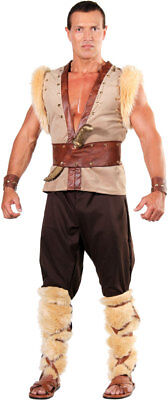 BARBARIAN VIKING THOR CAVEMAN WARRIOR MEDIEVAL ADULT MENS MALE COSTUME 28988  - Male Warrior Costume