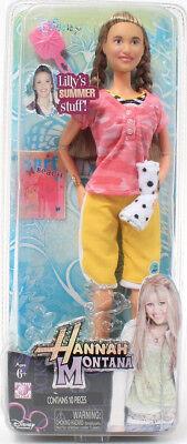 Disney Hannah Montana Lilly's Summer Stuff Doll Clover Bracelet Towel Brush Mag