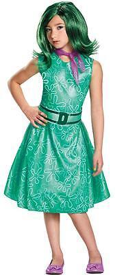 Mädchen Disney Pixar Innen nach Außen Ekel Kleid, Schal & Perücke Kostüm (Disney/pixar Kostüme)
