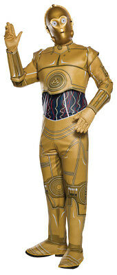 Star Wars Adult C-3PO Classic Droid Robot Suit & Mask Rubie's Halloween Costume for sale  Shipping to Canada