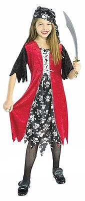 Girl Pirate Outfits (Sassy Pirate Girl Costume Maiden Caribbean Wench Outfit MEDIUM LARGE Child)