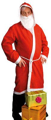 Easy Weihnachtsmann Kostüm 3-teilig NEU - Herren Karneval Fasching Verkleidung K