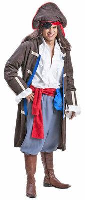 Pirat Jack Kostüm Herren - Karibik Party Anzug mit Piratenhut und - Pirat Jack Kostüm