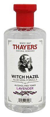 - Thayers Witch Hazel Alcohol-Free Toner LAVENDER Aloe Vera Formula - 12 oz