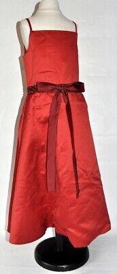Dorkas Vestido Para Niñas Flores Boda Festivo Satén Rojo Talla 110/116 (...