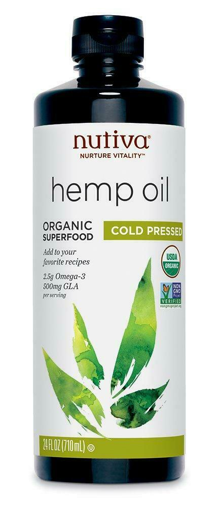 Nutiva Organic, Cold-Pressed, Unrefined Hemp Seed Oil from non-GMO, Sustainably