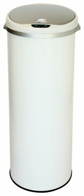 iTouchless - 13-Gal. Round Deodorizer Sensor Trash Can - Pearl White