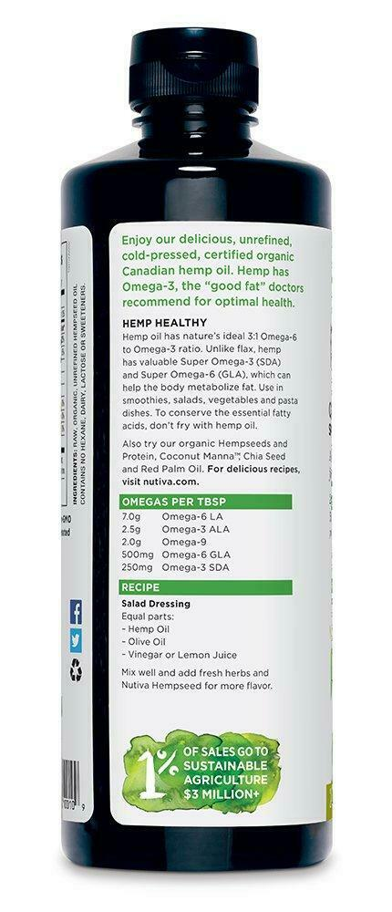 Nutiva Organic, Cold-Pressed, Unrefined Hemp Seed Oil from non-GMO, Sustainably 4