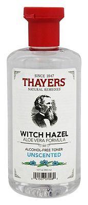 Thayers Witch Hazel Alcohol-Free Toner UNSCENTED Aloe Vera Formula - 12 oz